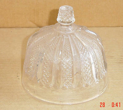 EAPG CRYSTAL SERRATED RIB & FINECUT BUTTER LID NON FLINT OF LATE 1880'S