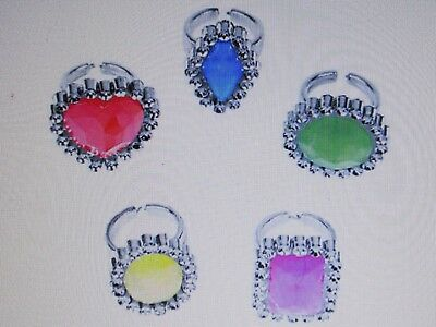 72 Rhinestone RINGS jewelry party favors FREE SHIP