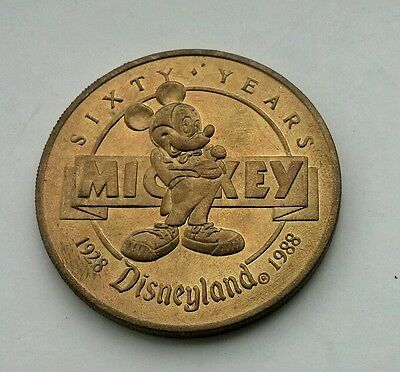 Disneyland 1988 Mickey Mouse 60th Birthday Numbered Bronze Collector Coin