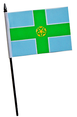 "DERBYSHIRE COUNTY FLAG 18/"" X 12/"" DERBY Boat caravan treehouse flags Buxton UK"