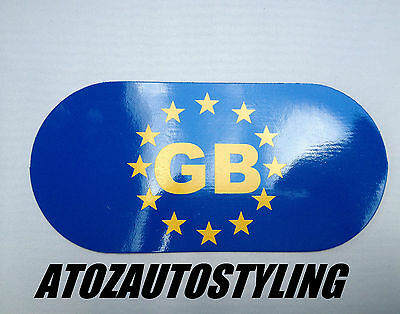GB Magnetic Sticker Oval Plate - Can Be Used For EUROPEAN Driving  <<NEW>>