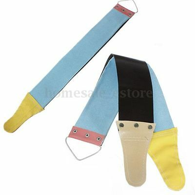 New Canvas Leather Sharpening Strop For Barber Open Straight Sharp Razor Shave