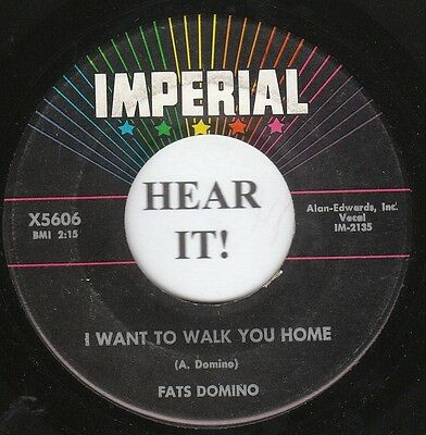 Fats Domino R & B 45 (Imperial 5606) I Want To Walk You Home VG++