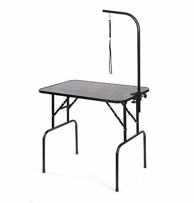 Pedigroom large  portable mobile dog pet grooming table with arm clamp noose