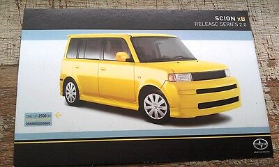 2002 ? TOYOTA SCION Factory POSTCARD -  Rare !