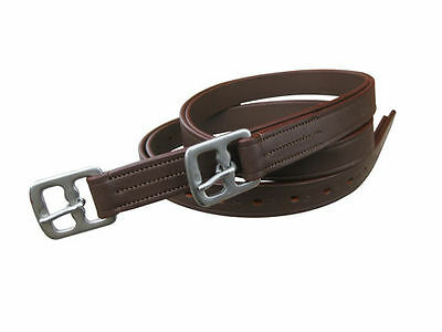 Real Leather Horse Stirrup Leather Brown Color Available In Full, Cob, Pony Size