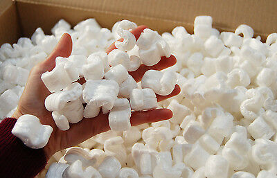 Boxed Packing Polystyrene   Peanut chips   Void Fill   approx 4.5 Cubic Ft