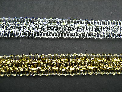 Gold Braid Trim 3cm   Sewing//Crafts//Costume//Corsetry Silver