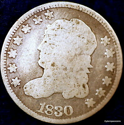 1830 Nice Early Capped Bust Liberty Half Dime!! D0525