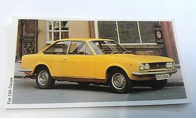 1971 FIAT 124 Coupe  Daily Express UK Trade Swap Card