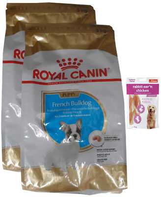 2x3kg Royal Canin French Bulldog Puppy + 80g Fleischsnacks