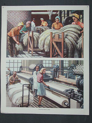 Macmillan Geography Picture No.66 - Manufacturing Linen