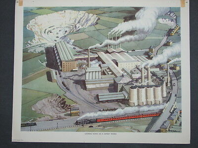 Macmillan Geography Picture No.106  Looking Down On A Cement Works by N Howard