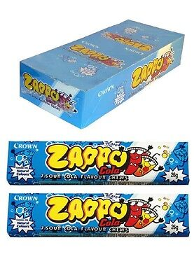 60 x ZAPPO CHEWS COLA Bulk Sweets Party Favours Candy Wrapped Lollies
