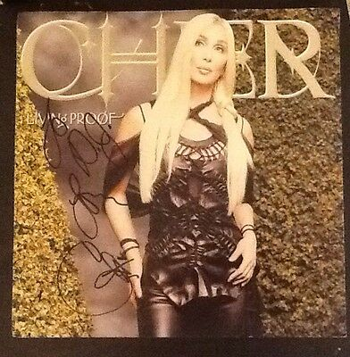Cher Signed Living Proof 12x12 Record Flat Poster RARE