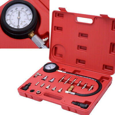19PC Cylinder Pressure Meter Diesel Engine Compression Testing Gauge Kit TU15