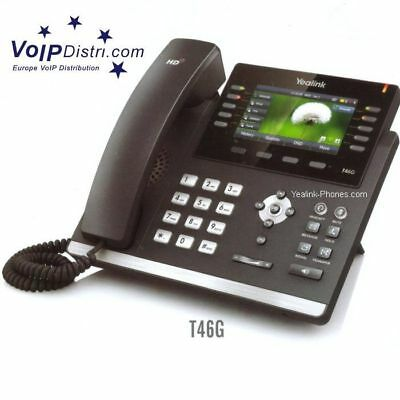 Yealink VoIP T46G Ultra-elegant IP Phone, HD Voice & PoE (SIP-T46G) for Asterisk