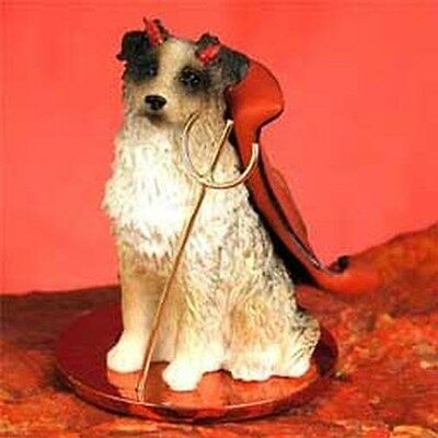Australian Shepherd Brown Devil Dog Tiny One Figurine Statue