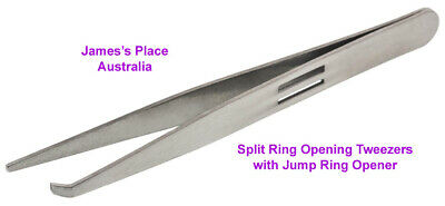 Split Ring Beading Tweezers with Jump Ring Opener from BeadSmith.