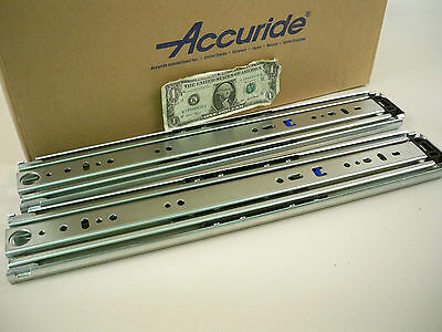 """1 Pair Accuride 9301 18"""" to 22"""" Drawer 500 lb Full Extension + 4"""" Over-Extension"""