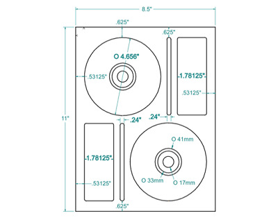 200 CD/DVD Labels Memorex® Comparable Layout 312748