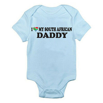 I LOVE MY SOUTH AFRICAN DADDY - Dad / Father / South Africa Themed Baby Grow