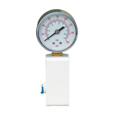 """Pressure Gauge 1/4"""" Connections, Bracket & T-Piece: RO systems/ Window Cleaning"""