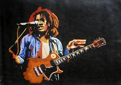 Bob Marley oil painting NOT a print poster.Hand painted art,framing avail Reggae