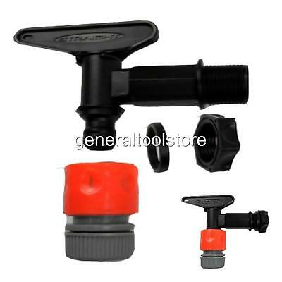 Water Butt Tap Hozelock Compatible,  Includes Nut, Snap Connector For Hose Pipe