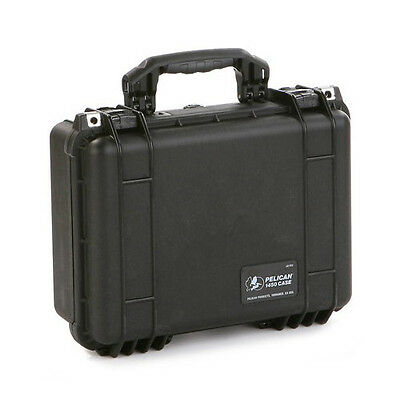 Pelican 1450 Small Case with U-Pic Foam Made in USA (Black)