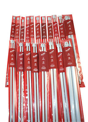 Essentials Whitecroft Knitting Needles Pins 35cm Long - Sizes From 2mm to 15mm