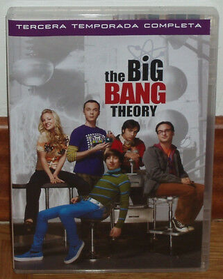 The Big Bang Theory 3º Temporada Completa 3 Dvd Nuevo Serie Comedia (Sin Abrir)