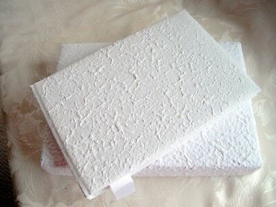 White Plain Boxed Guest Book, Wedding,Christening DIY Leave plain or decorate