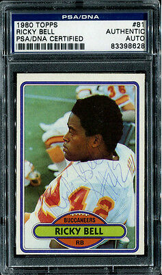 1980 Topps Football #81 Ricky Bell Autographed Card PSA/DNA p00253