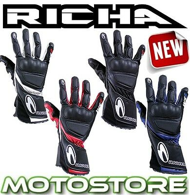 stable quality buying now cheap price RICHA WSS LEATHER Sports Summer Cruiser Motorcycle Motorbike ...