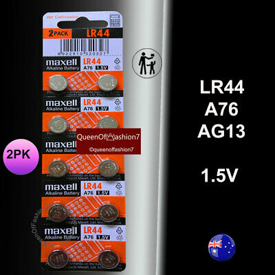 20 x LR44 Maxell 0%Hg 1.5V Genuine Battery A76/AG13 Alkaline Batteries Fresh