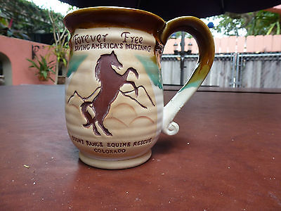 """Forever Free"" - Wild Mustang  Equine Rescue - Large Coffee Mug"