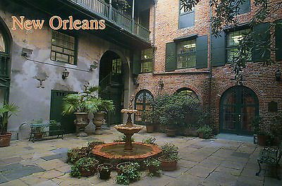 Brulatour Courtyard, 520 Royal Street, French Quarter, New Orleans LA - Postcard
