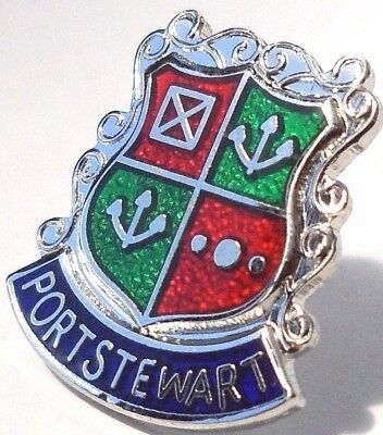 Carrickfergus Town Northern Ireland Crest Small Pin Badge
