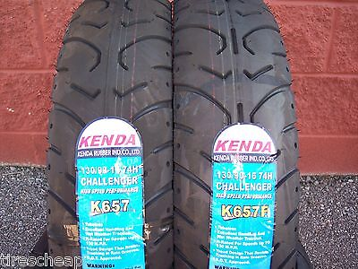 Two Tire Motorcycle Set 130/90-16 Front 130/90-16 Rear Kenda K657 Touring 6 Ply
