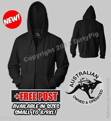 Plain Zip Up Hoodie In Big Mens And Ladies Plus Sizes