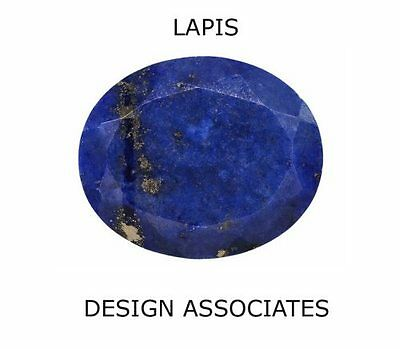 Lapis Faceted 18 X 13 Mm Oval Cut All Natural Gemstone