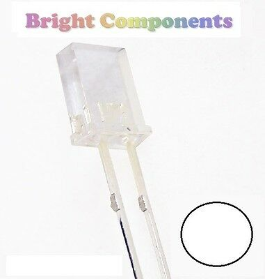 10 x Rectangle White LED 2x3x4mm - 1st CLASS POST - UK