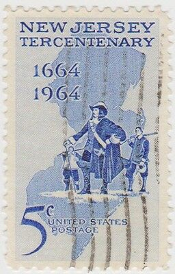 (USB188)1964 USA 5c centenary of new jersey ow1229