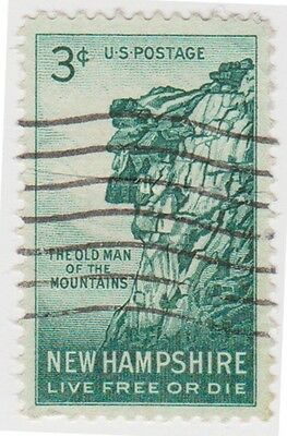 (USB55)1955 USA 3c the old man of the mountain ow1070