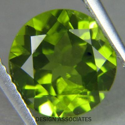7 MM Round Cut Peridot All Natural Without Treatment