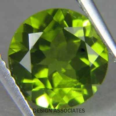 8 MM Round Cut Peridot All Natural Without Treatment
