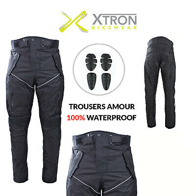 Mens's Motorcycle Textile Trousers Motorbike Cordura Waterproof CE Armour Pants