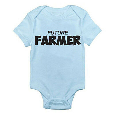 FARMER FUTURE - Farming / Agriculture / Fun / Novelty Themed Baby Grow / Romper