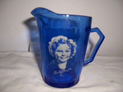 "hazel atlas shirley temple 4 1/2"" tall cream pitcher  1930's early 40's"